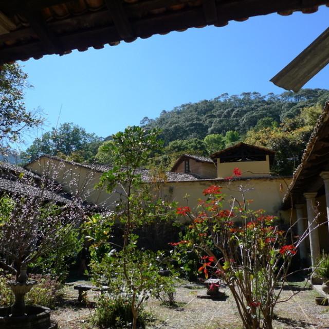 Courtyard of hostal el pabellon  san sebastian cy4vky
