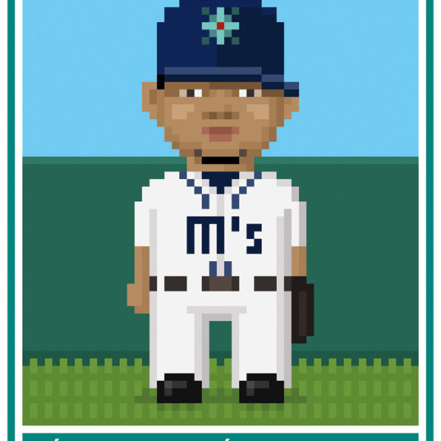 Pixelated felix hernandez seattle mariner qhaeu2