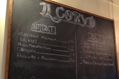 Il corvo menu scixjz
