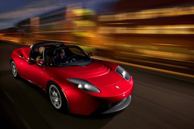 Tesla roadster electric car dnnh0m