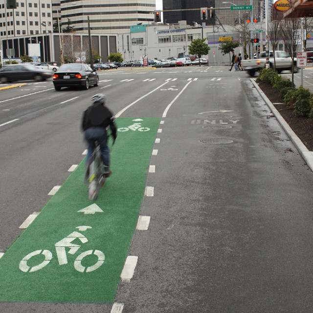 Seattle bike lane seikij