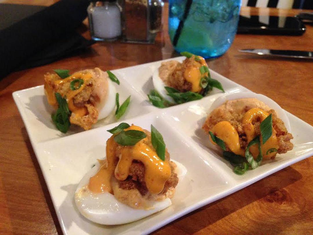 Craveable Cajun Deviled Eggs At Brick Spoon Houstonia - Top 8 cajun brunches in lafayette la