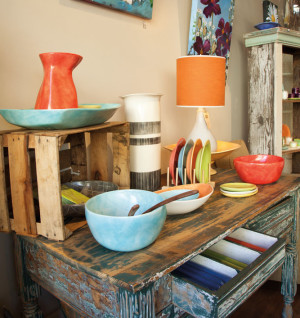 Melanie Thompson pottery at Twiggs in Hood River