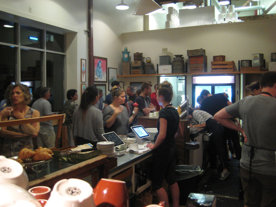 busy restaurant scene. The Scene At Salt \u0026 Straw On A Perfectly Warm Summer Night NW 23rd: Crazy Busy But Calmly Organized, Symphony Of Portland Tastes Both Gustatory And Restaurant S