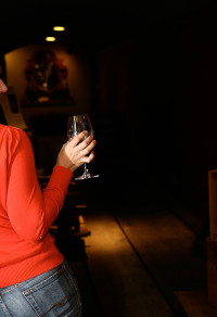 Girl and Wine Glass
