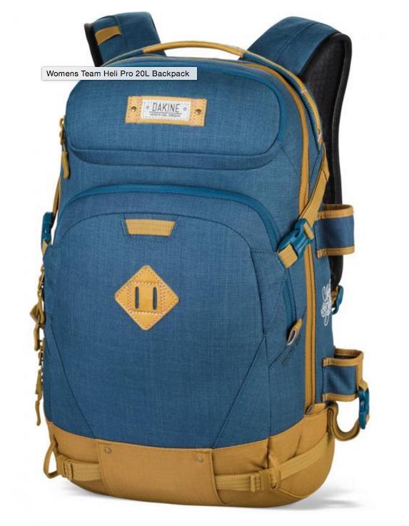 Dakine womens team heli pro 20l backpack vpa12u