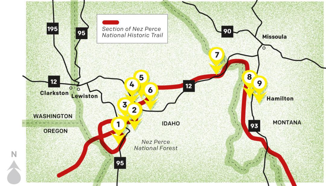 Chief Joseph S Trail In Idaho And Montana Seattle Met