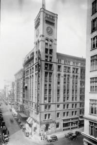 Oregonian building circa 1950