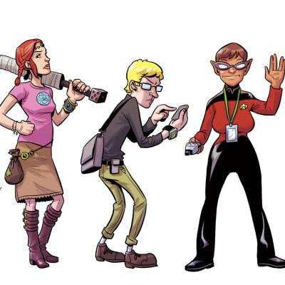 Geekolympathon geeks fecing