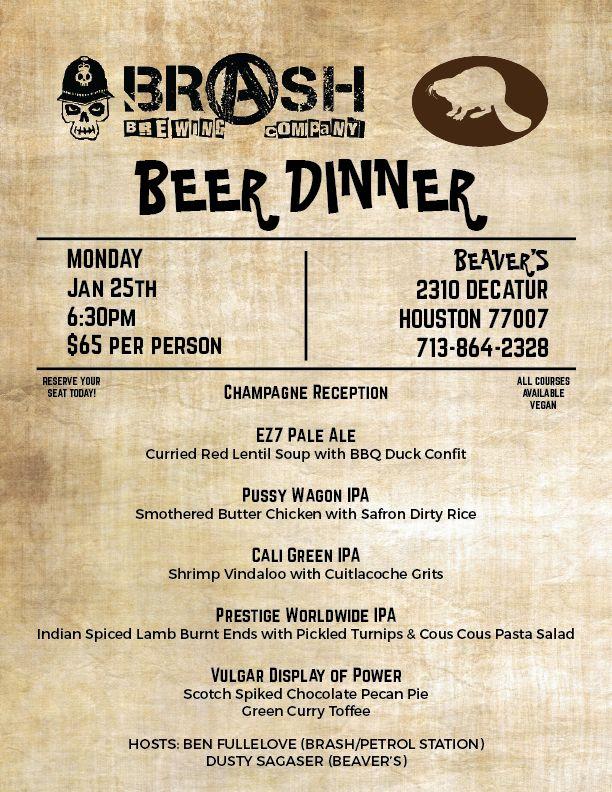 Beavers beer dinner kmht5e