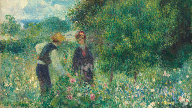 Pierre augusterenoir picking flowers x8cs9k