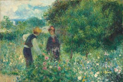 Pierre augusterenoir picking flowers x8cs9k