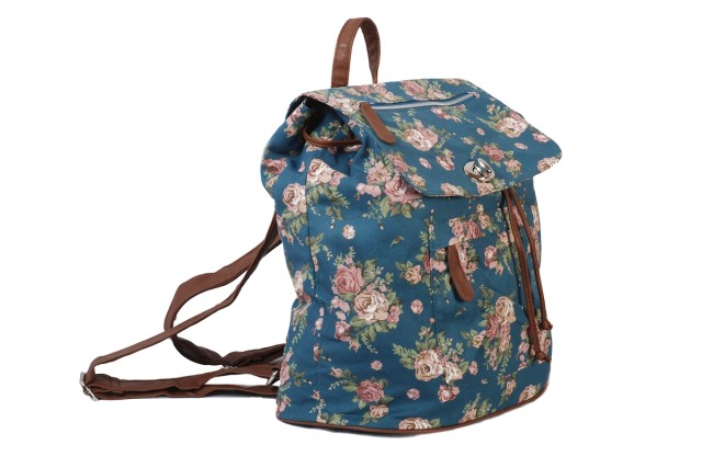 Blue floral backpack handbag large capacity canvas bag bznb08bl 1  62023 zoom rmfrit