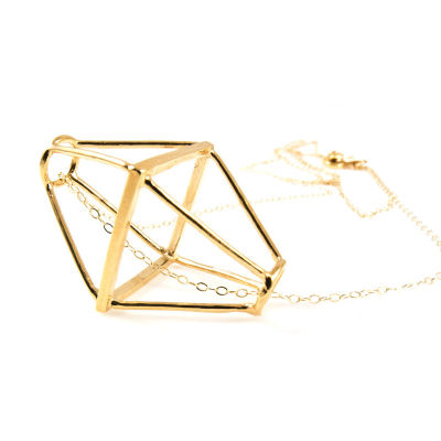 1. geometric cage necklace    48   baleen mstkdm