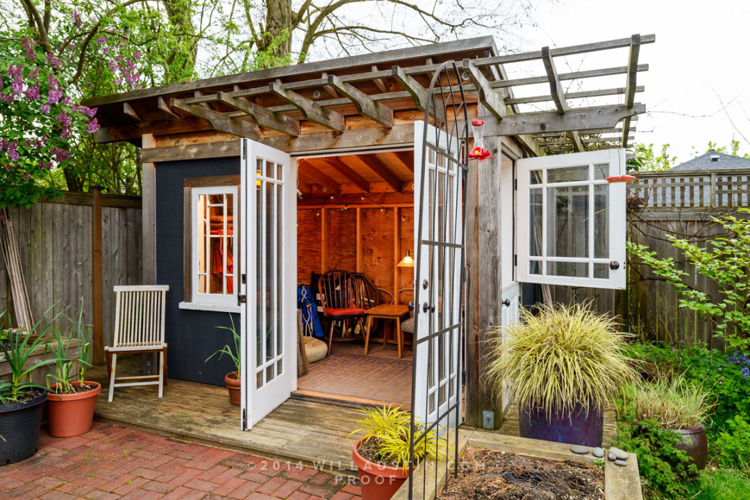 Stylish urban garden sheds seattle met for Backyard cottage seattle