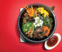 Gregory Gourdet's bibimbap at Departure restaurant in Portland.