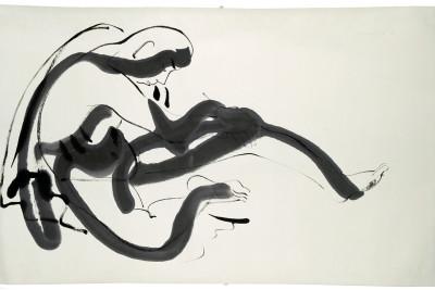 Isamu noguchi peking drawing  man sitting  z7x9ho