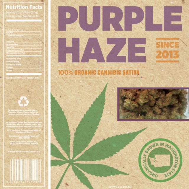 Marijuana ballot purple haze organic afv522