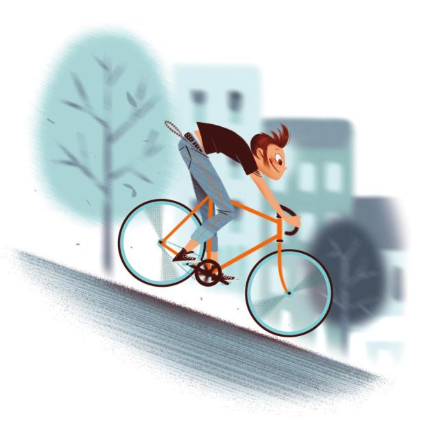 Seattle biker illustration myliil