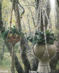 macrame hanging plant holders
