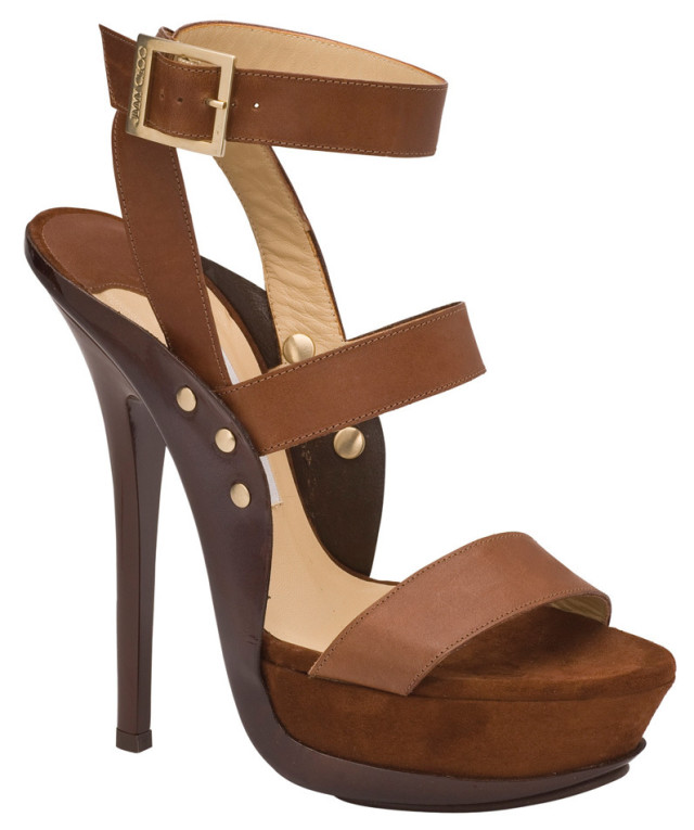 Sure The Stiletto On Jimmy Choos New Halley Sandal 1495 At Nordstrom Measures Just Under Six Inches But The One And A Quarter Inch Boost Means It