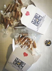Goldfinch caramels from Brad Rogers made in Portland
