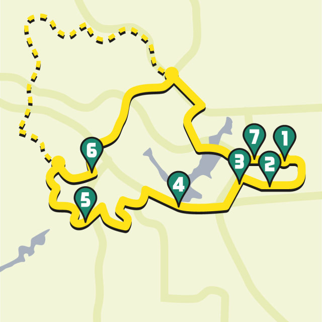 0715 bicycling routes 4 into the woods xh1mny