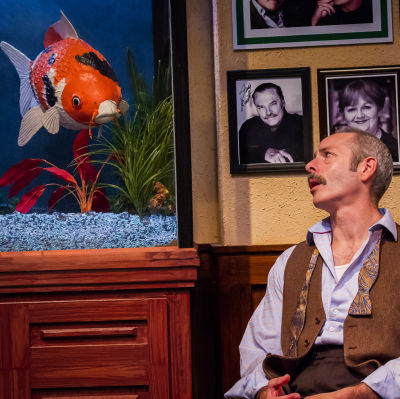 1  mistakes were made artists rep michael mendelson with fish  denise photo by owen carey qnnfvf