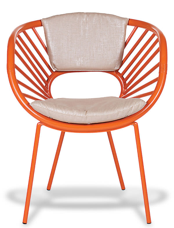 David francis d0060 aura chair front view orange slice l tlrqra