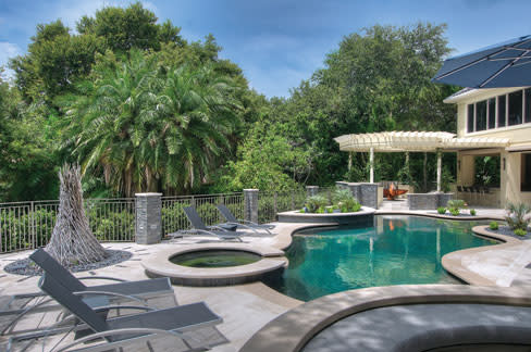 landscaping around pool area four sarasota landscape projects that prove we live in paradise
