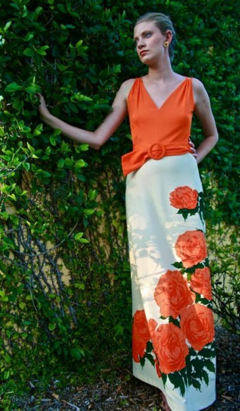 Alred orange dress greenery 410x702 m1vsct
