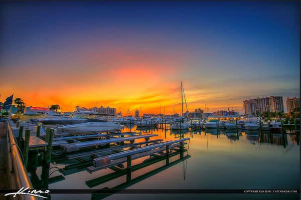 Bayfront marina sunset dlrygm