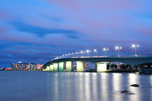 Sunshine Skyway Bridge Driving Over The From Sarasota To Ta