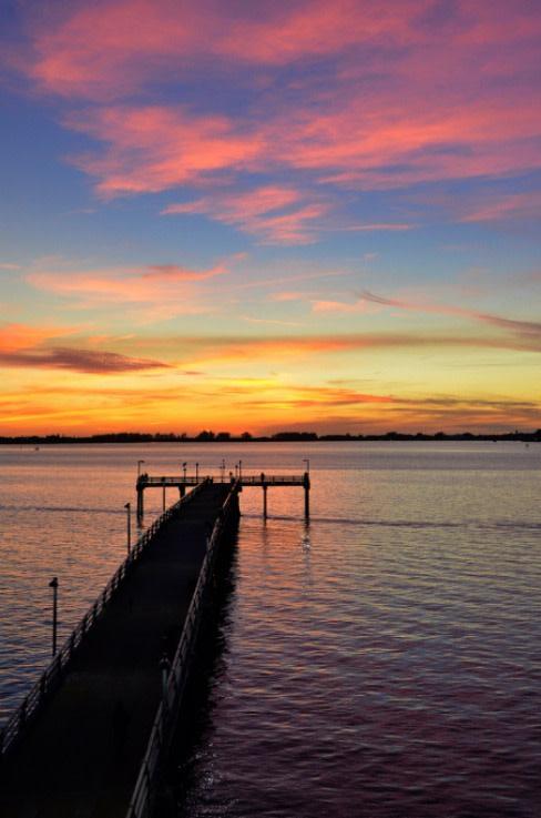 Sarasota pier rainbow sunsetres csbb1j