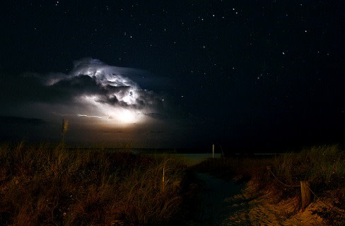 Siesta key beach night storn lnb8ai