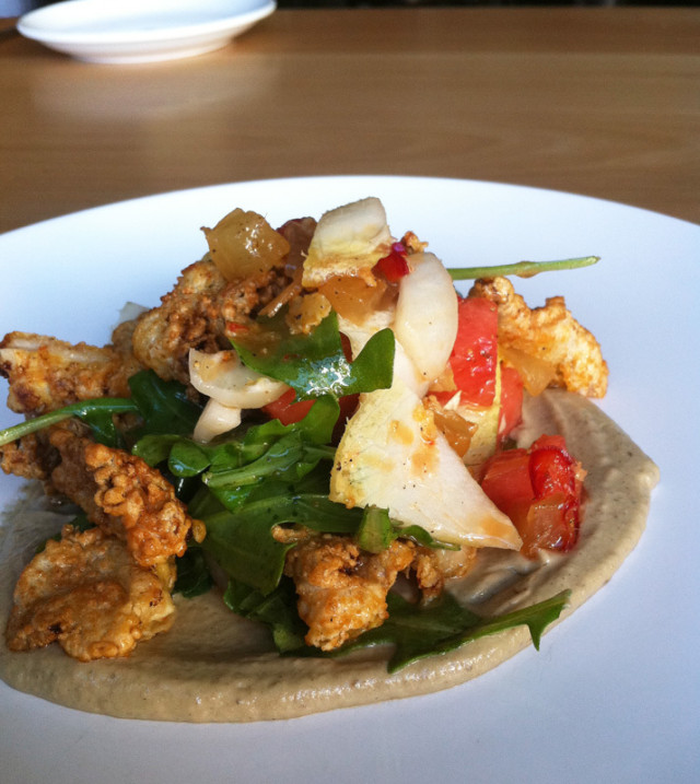 Fried Chicken Skin Salad At Aviary Portland Monthly