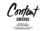 Thumbnail for - CONTENT 2011 Line Up