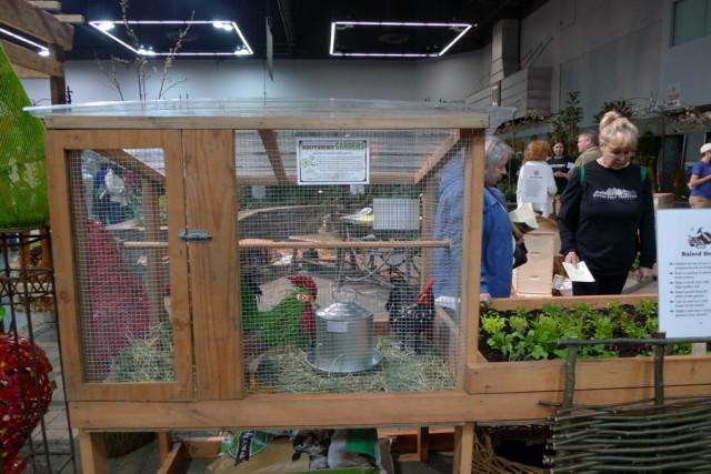 Independence Gardens' chicken coop in the Incredible Edible Garden