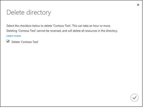 Deleting an Azure AD Tenant