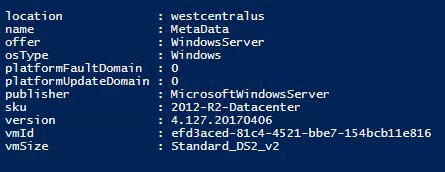 Azure Instance Metadata and Scheduled Events