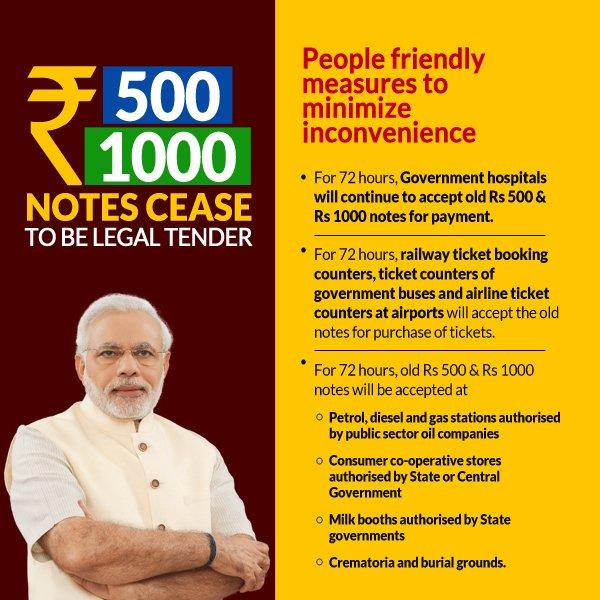 500 1000 rupee note ban india