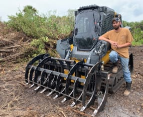SCCF's New Skid-steer Enhances Land Restoration Capability
