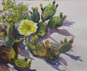 prickly-pear-watercolor-workshop-with-marion-hall