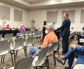Evans Presents Priorities to Legislative Delegation