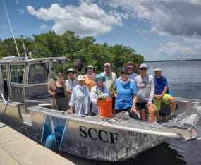 Volunteers Assist with Mangrove/Oyster Restoration