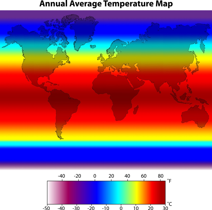 Annual Temperature Map
