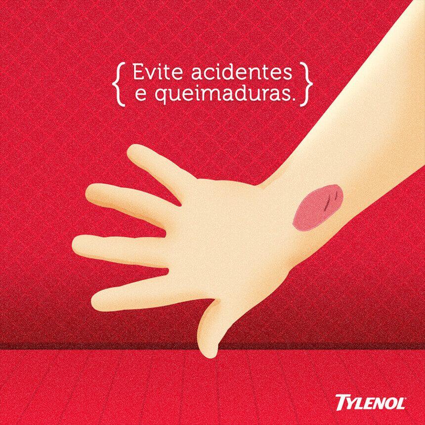 Evite acidentes e queimaduras.