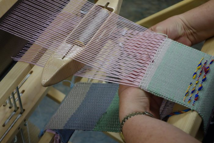 Adventurous Weaving Workshop, hands and loom