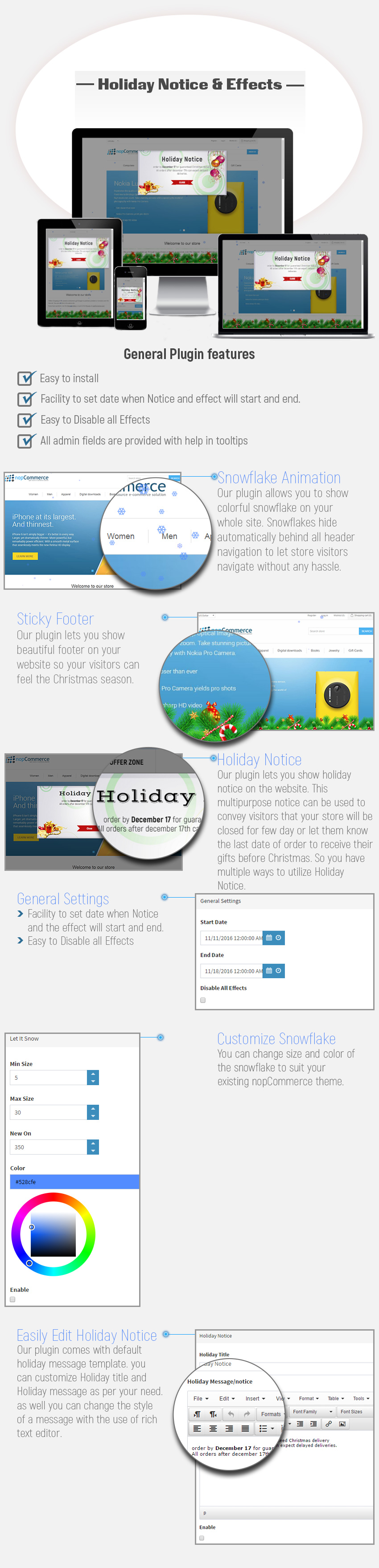 nopcommerce plugin for christmas holiday and effect on nopcommerce store