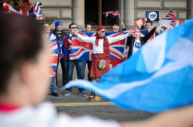 Skottland kan bli løsrevet fra Storbritannia etter 307 år. (Foto: Scanpix)